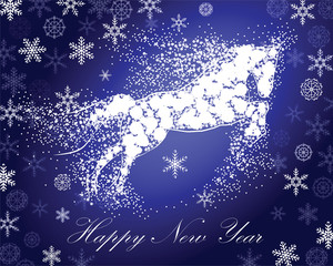 horse new year snowflake2