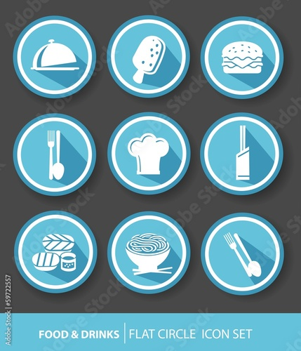 Food buttons,Blue version