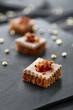 canvas print picture - toast foie gras pain d'épices et confit 1