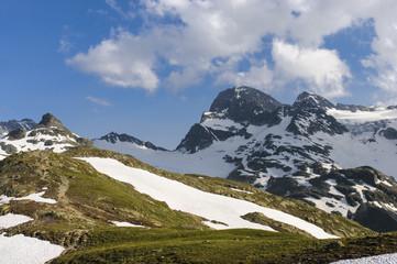 Piz Buin und Vermuntgletscher, Silvretta/Österreich