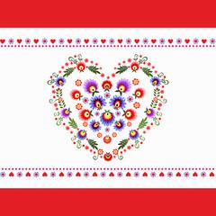 serce - ludowa wycinanka