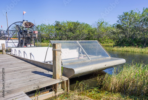 Airboat at the Everglades,Florida