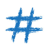 Painted Hashtag Symbol