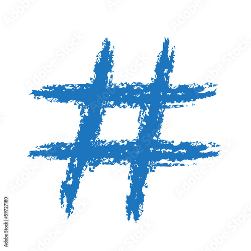 Hashtag Symbol Drawing Painted Hashtag Symbol
