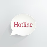 Hotline Speech Bubble Sign