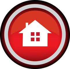 Круглый векторный значок с изображением дома