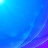 Abstract vector blue shining wavy background