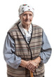 Portrait of a smiling senior woman looking at the camera.