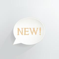 New Speech bubble Sign