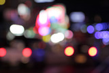 Road of blurry bokeh abstract background.