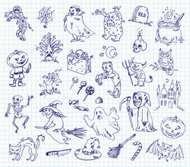 Freehand drawing halloween