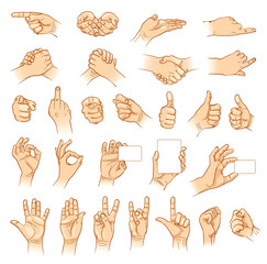 Hands in different interpretations