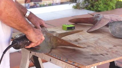 Industrial Boat Prop Restoration