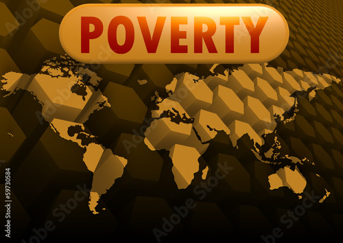 Poverty world map