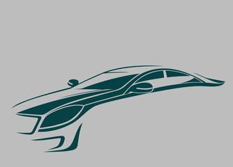 Koyu yeşil otomobil