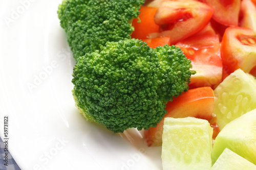 Fresh salad with brocolli