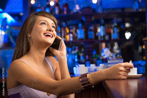 woman talking on the cellphone