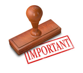"Rubber Stamp on a white background with the word ""IMPORTANT"""