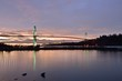 Lions Gate Bridge and Downtown Vancouver at sunrise