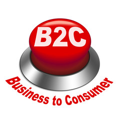3d illustration of b2c ( business to consumer ) button