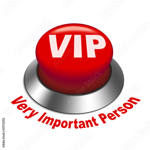 3d illustration of vip ( very important person ) button