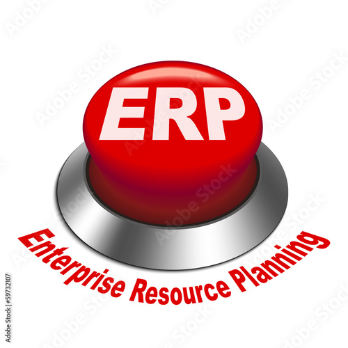 3d illustration of ERP Enterprise Resource Planning