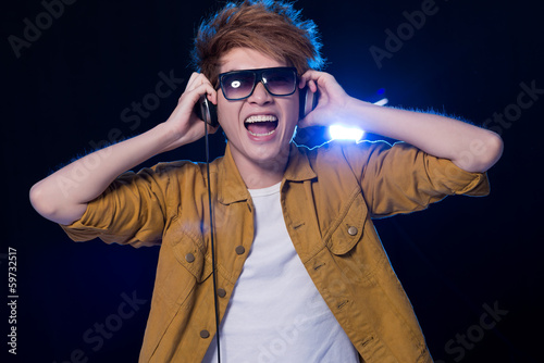 Excited DJ