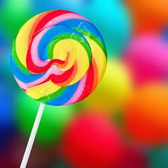 Colorful spiral lollipop