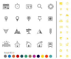 Collection Icons Location Icons