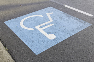 Sign urban disabled