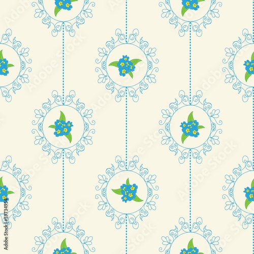 Easter Floral Seamless Pattern