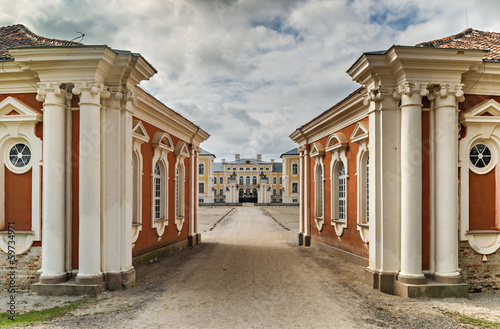 View on Rundale Palace from the main entrance