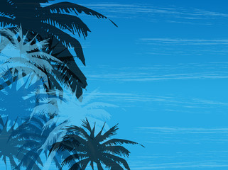 Vector illustration of abstract background with palm