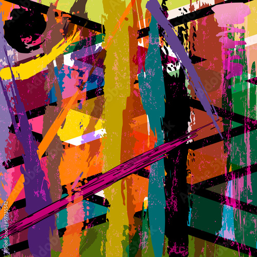 abstract background, with strokes, splashes and lines