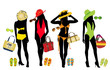 Vector illustration of woman fashion elements for beach