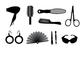 Vector illustration of fshion accessories
