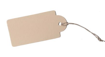 Etikett Pappe Papier Schnur