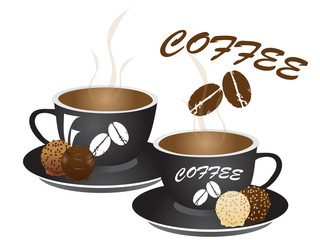 Vector illustration of cup oc coffee