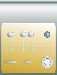 control panel or set of different buttons