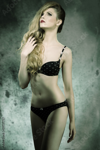 sensual woman with underwear
