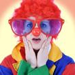 Clown zu Karneval ist traurig