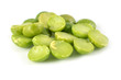 pile of dry green peas isolated on a white background