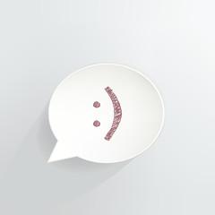 Smiley Speech Bubble Sign