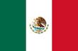 Leinwanddruck Bild - Mexico Flag
