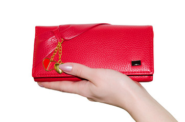 Red purse.