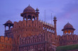 India, Delhi, the Red Fort at sunset