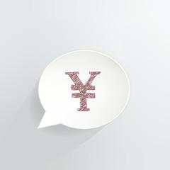 Yen Symbol Speech Bubble