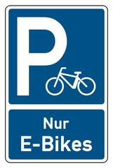 parksymbol parken nur e-bikes mit e-bike-symbol