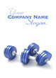 Pair of blue dumbbells