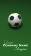 Soccer ball against green